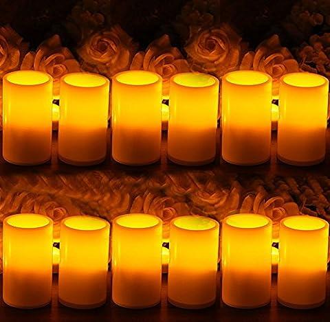 Paracity Bougie à LED Lumière à piles sans flamme Résine