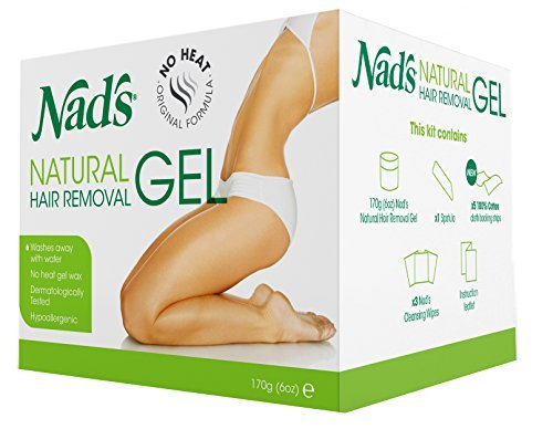 Nad's natural hair removal gel refill for kit no heating waxing by clandestine project
