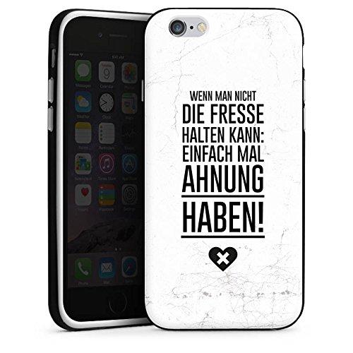 Apple iPhone X Silikon Hülle Case Schutzhülle Lustig Humor Sprüche Silikon Case schwarz / weiß
