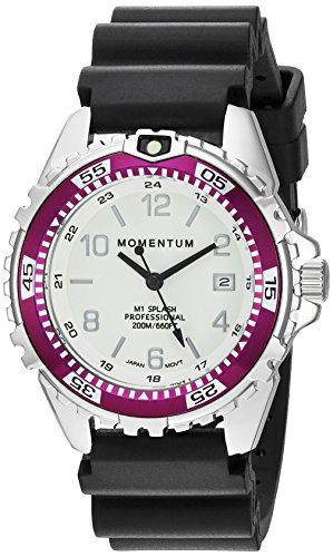 Momentum Women's Analog Japanese-Quartz Watch with Rubber Strap 1M-DN11LE1B
