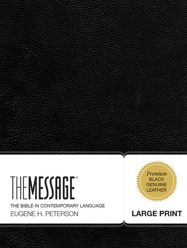 Message Large Print Bible-MS (First Book Challenge) (Bibel-charts)
