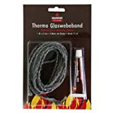 Kamino-Flam 333206 Thermo Glasgewebeband 10 x 3 mm 2 m 17 ml Kleber