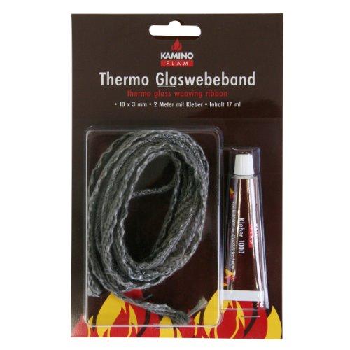 Kamino-Flam 333206 Thermo Glasgewebeband 10 x 3 mm 2 m 17 ml Kleber