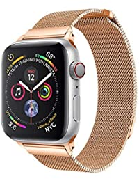 Holatee Correas de Reloj Correa de Pulsera para Apple Watch Series 4 44MM Reloj magnético milanés