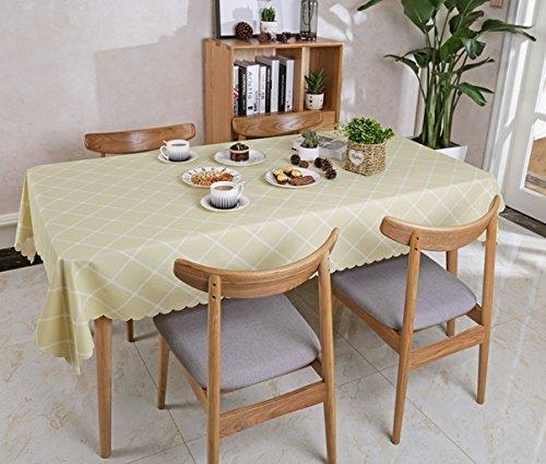 Nwn PVC Plaid rechteckige Tischdecke Tisch Schutz Fleck beständiges wasserdichtes Anti-Hot 135x220cm (53.1 * 86.6inches) (Farbe : Pink)