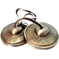 Tingsha Om Bells Chimes Tibetan Meditación Namah Shivaya Grande 8 Metal Om Chant