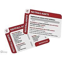NFC ID NOTFALLKARTE IM SCHECKKARTENFORMAT MIT KOSTENLOSEN ONLINE NOTFALLPASS FÜR DIE GELDBÖRSE MIT NOTFALLDATEN... preisvergleich bei billige-tabletten.eu