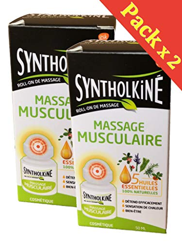SyntholKiné Roll-On de Massage Tensions Musculaires 2x50 ml