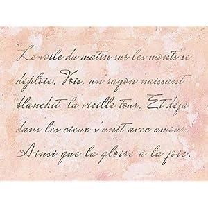 Schablone mit französischer vintage Schreibschrift