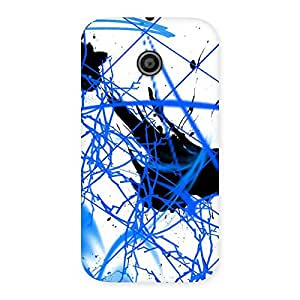 Stylish Blue Splasher Print Back Case Cover for Moto E