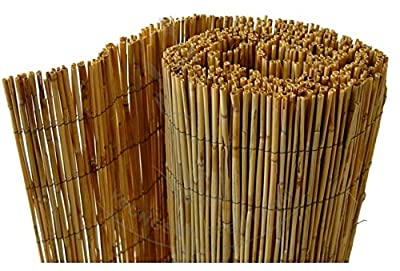 Natural Peeled Reed Screening Roll Garden Screen Fence Fencing Panel 4m