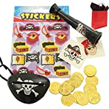 Pirate Party Bags - Ready To Fill Paper Party Bag - The Long John Silver Party Bag