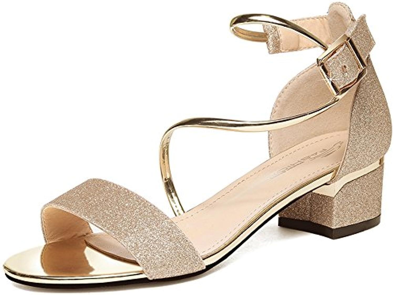 sandales feifei des chaussures à talons haut haut haut la mode vintage été pu matérielles (tableau: 1 cm, très étanches:...b07ccgyrd8 parent   Soldes  3d67b1
