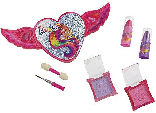 Happy People 52012 Barbie Schmink-Set Flügelherz, für Mädchen, Make-Up Zubehör