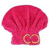 Demiawaking turbante di microfibra Bowknot rapidamente cappello capelli secchi asciugamano avvolto Bathred Shower Cap