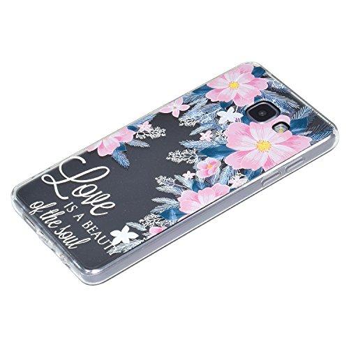 iPhone 6 Plus / 6s Plus Cover, WindTeco Ultra Sottile Custodia in TPU Frame e Clear Acrilico Indietro Panel Antigraffio Protettiva Copertina Case per Apple iPhone 6 Plus / 6s Plus Rosa Fiore