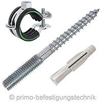 30pezzi Set di fissaggio per tubi, stringitubi estensibili 23–26mm, Tassello Universale Giunto a vite 8x 80