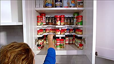 Spicy Shelf Stackable Spice Rack Organizer Holds Up to 64 Spices by Sfree