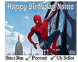 Spiderman, essbare Zuckerguss-Tortenaufsatz –, Personalisieren Sie auf dem (Überprüfen Sie Ihre Bestellung) Abschnitt, Precut Farb-Optionen, 3. Rectangle 24cm x 18cm