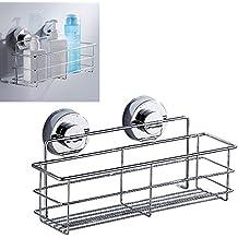 Wrighteu Cesta Ventosa Estante Adhesivo Soporte Organizador Acero  Inoxidable de Baño Ducha Cocina ade51a787668
