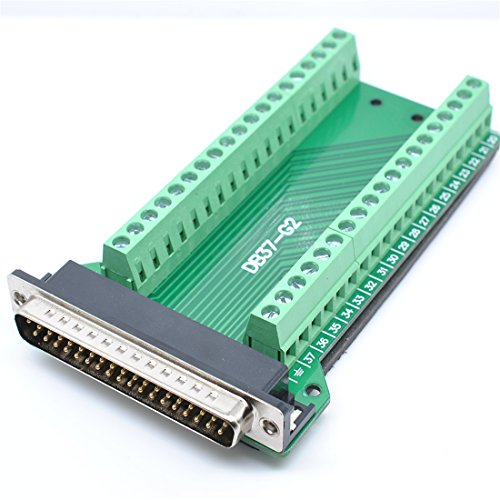 willwin DB37Stecker Fesselnde-Anschluss zu Verkabelung Terminal Breakout Board Lötfreie Male-Riveting -