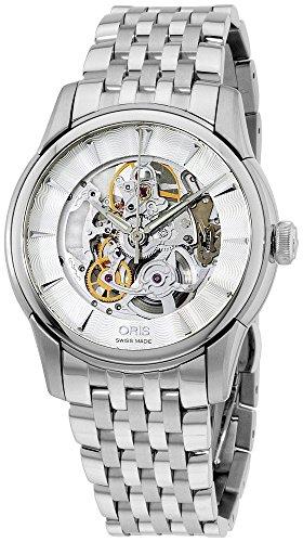 Oris Artelier Skeleton Automatic Stainless Steel Mens Watch 734-7670-4051-MB