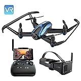 UDIRC Drone avec Lunettes VR 3D, avec 5.8Ghz FPV LCD Moniteur d'écran, Drone avec caméra HD, Alarme hors de portée, mode de maintien d'altitude, Fantastique 360 degrés Eversion