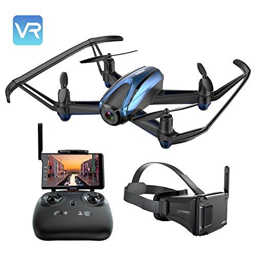 UDIRC Drone VR con fotocamera 720P HD, RC Wifi, schermo LCD