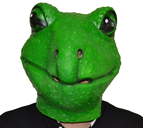 Queenshiny® Latex Tiermaske Halloween-Party-Kostüm (Frosch)