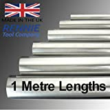 Metric Silver Steel Round Bar 1 Metre (1000mm) Lengths - Precision Ground Shaft Rod BS1407 (8mm Dia X 1 Metre)