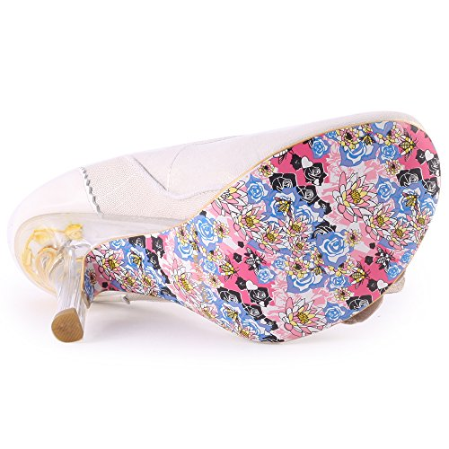 Irregular Choice Pumps Mrs Lower 4009-02A grauweiss Silber