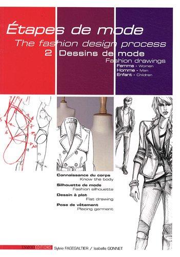 Etapes de mode : Tome 2, Dessins de mode, édition bilingue français-anglais