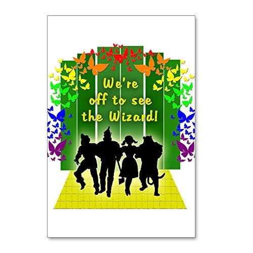 CafePress–Off To See The Wizard Of Postkarten (Paket von 8)–Postkarten (Paket von 8), 15,2x 10,2cm Glossy Print Note ()