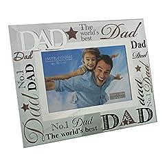 Idea Regalo - Dad Gift, cornice per foto in vetro con scritta