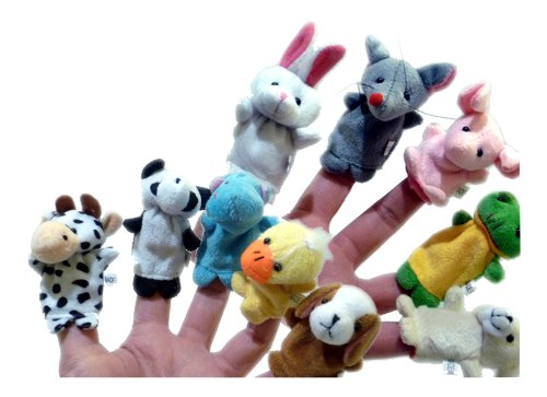 10x Fingertiere / Fingerpuppen Tiere - 10 Stück Set - tierisches Theater an der Hand!