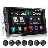 XOMAX XM-2VA1001 Autoradio mit 10 Zoll / 25,4 cm 10 Zoll / 25,4 cm XXL Touchscreen I Android 8.1, 2GB RAM, 16GB ROM, GPS Navigation I Support: WiFi WLAN, 3G 4G, DAB+, OBD2 I Bluetooth, 2X USB, 2 DIN