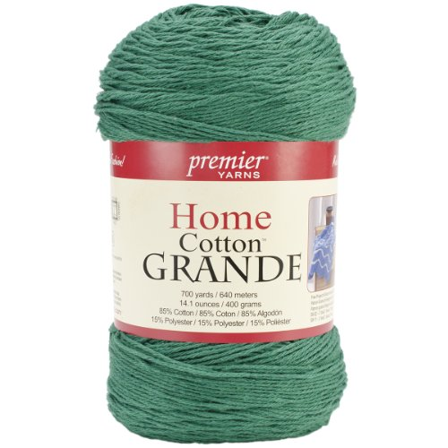 Premier Yarns Blend Home Baumwolle Grande Yarn-solid-Christmas grün (Premier Yarn-home-baumwolle Grande)
