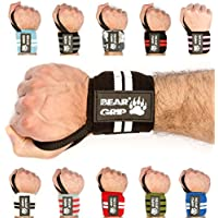 BEAR GRIP Premium weight lifting wrist support wraps, (Sold in pairs)