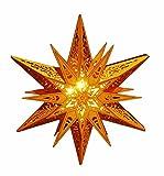 HAAC Led Weihnacht Dekostern Stern aus Holz Durchmesser 30 cm mit 6 warmweißen Leds