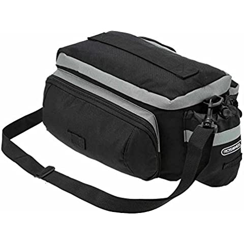 Bicicleta asiento trasero maletero bolsa, Pyrus multifuncional bicicleta bolsa de almacenamiento con funda impermeable