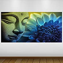 EXTRA GRANDE Azul de Buda Religión Vinilo Póster - Mural Decoración - etiqueta de la pared -140cm x 70cm