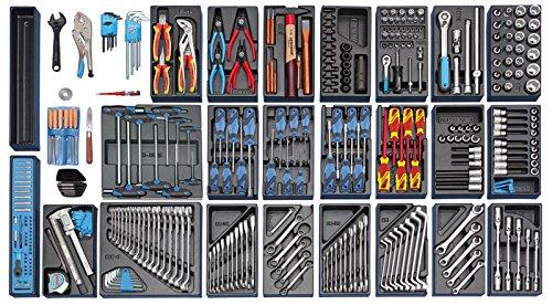 GEDORE Werkzeugsortiment im Werkzeugwagen, 1 Stück, 1500 ES-03 2004 0810