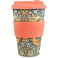 Ecoffee Cup + William Morris: Thief with Coral Silicone 14oz