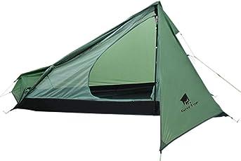 GEERTOP 1 Person 3-Saison 20D Ultraleicht Rucksackreisen Zelt für Camping Wandern Klettern (Pole Nicht enthalten)