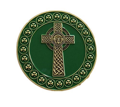 Gudeke Celtic Cross Coin Boutons de manchette pour voiliers