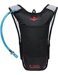 EGOGO Deporte Mochila Hidratación de mochila de senderismo corriendo ciclismo con 2L BPA libre de vejiga de hidratación E302-3 (Rojo)