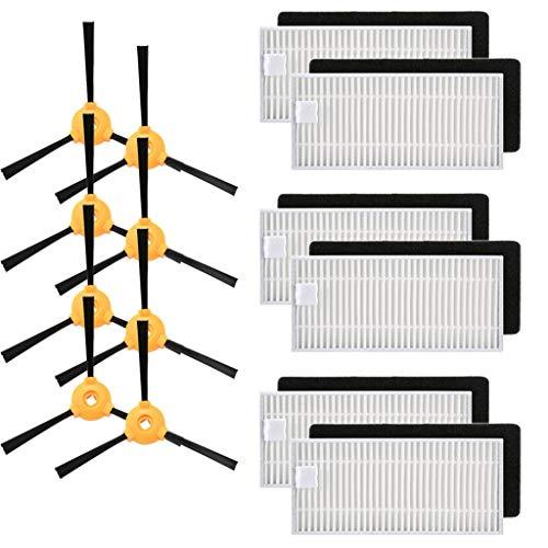 Vamoro Waschsauger-Zubehör Dampfreiniger-Zubehör Zubehör-Sets Staubsaugeraufsatz Seitenbürste & Hepa Filter für Ecovacs DEEBOT N79 N79S Roboterstaubsauger(Weiß)
