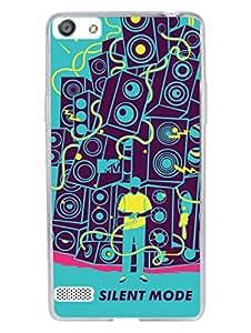 Oppo A33 Back Cover - MTV Gone Case - No Silent Mode - Blue - Designer Printed Hard Shell Transparent Sides