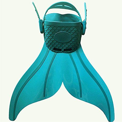 Etbotu Jungen Mädchen Meerjungfrau Schwimmen Flosse Silikon Flossen Schwimmen Flosse zum Schwimmen Schnorcheln