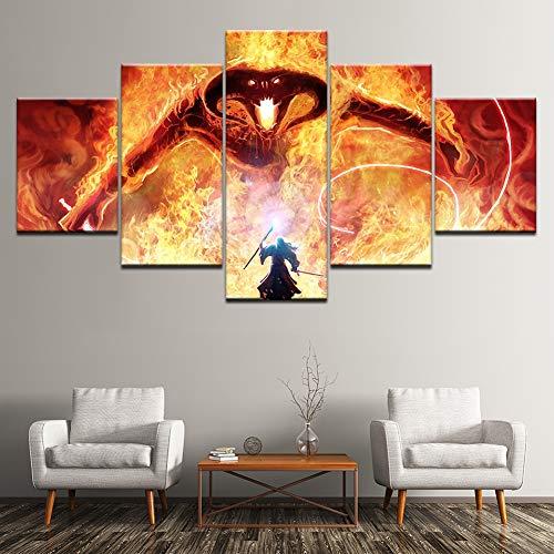 XLST 5 Paneles Gandalf Lucha El dragón